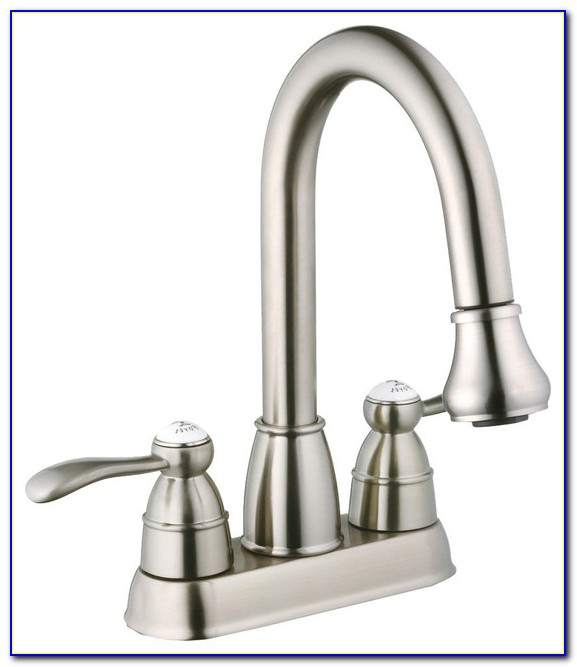 Utility Sink Faucet With Pulldown Sprayer
