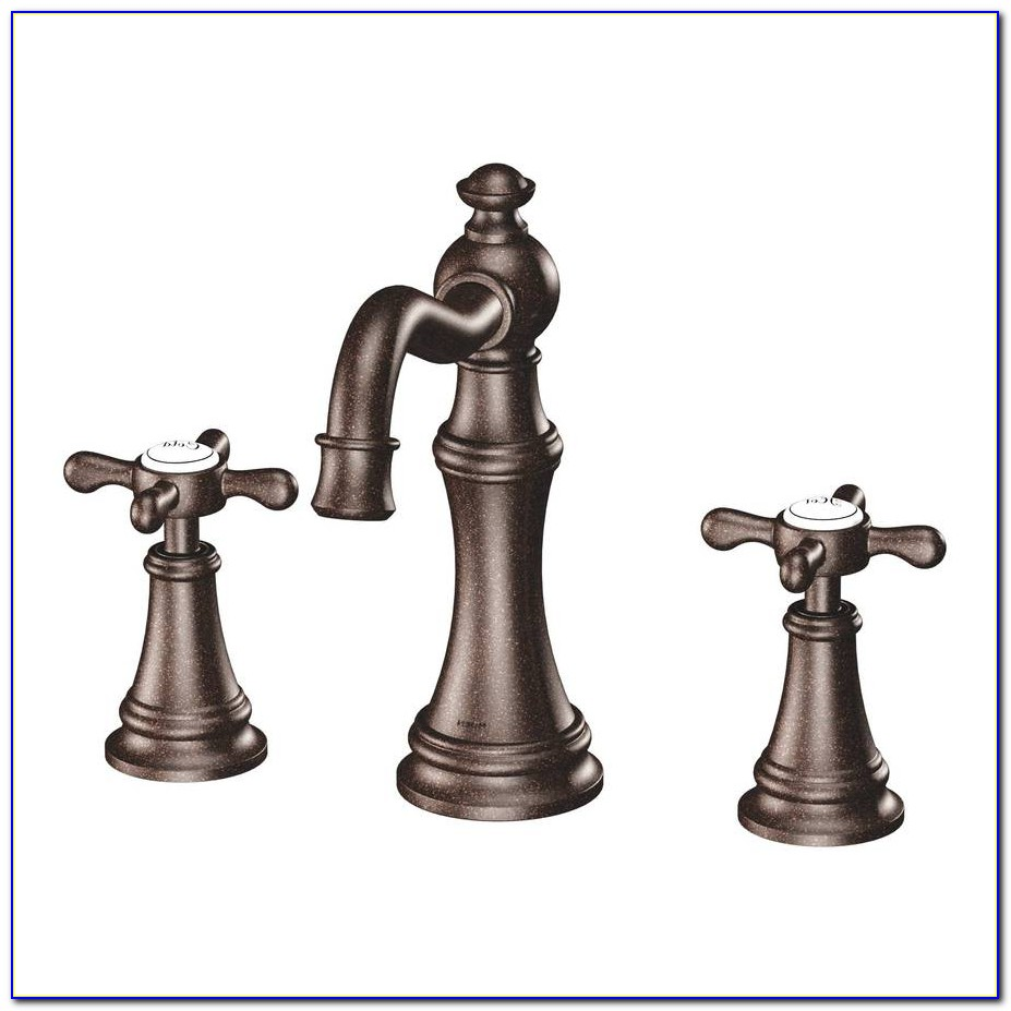 Venetian Bronze Widespread Bathroom Faucet