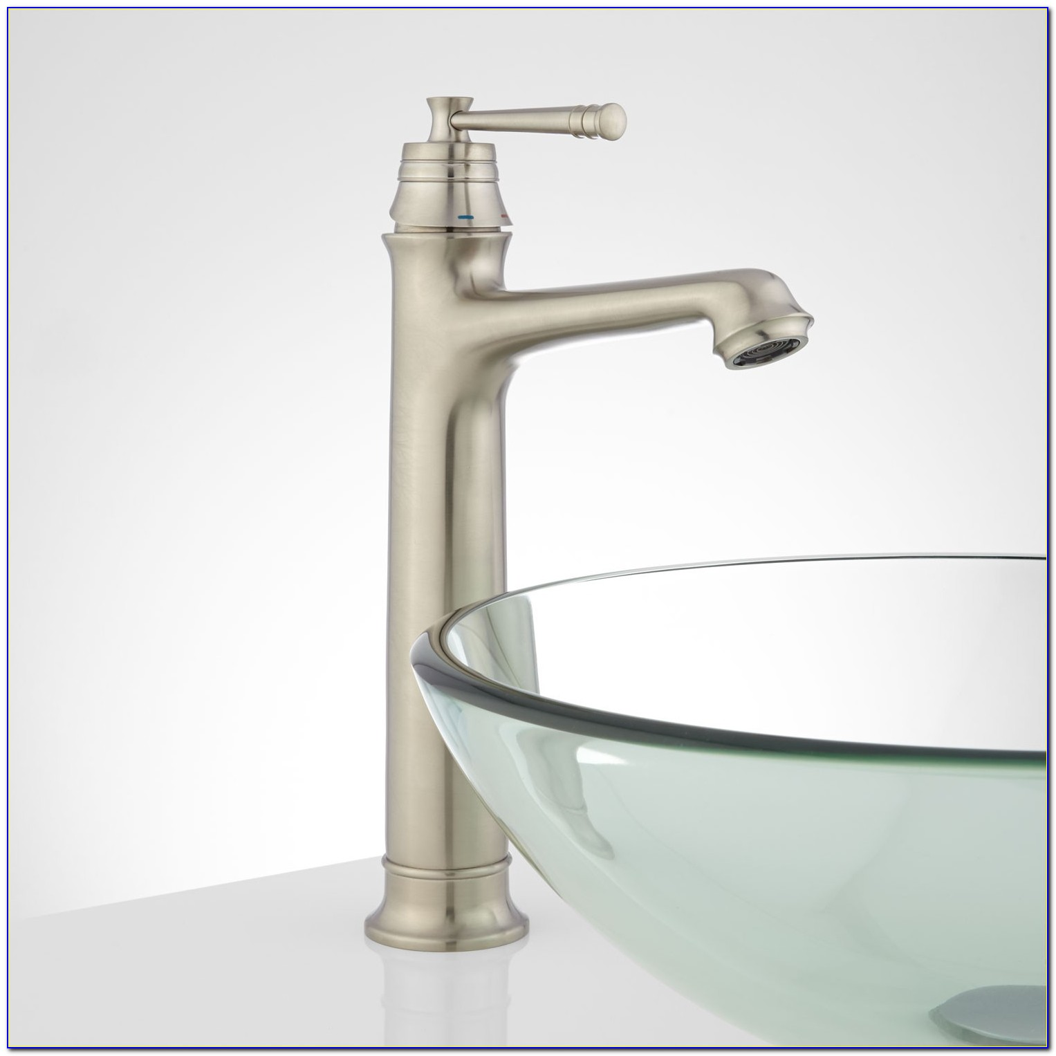 Vessel Sinks With Waterfall Faucets