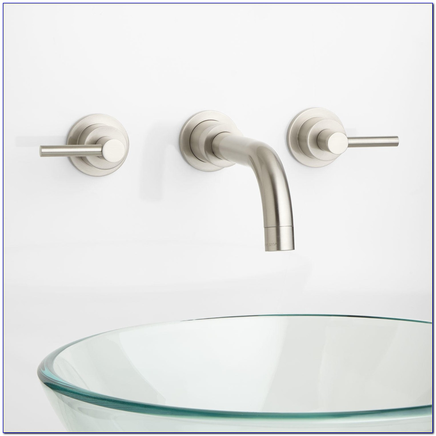 Wall Mount Bathroom Sink Faucet Chrome