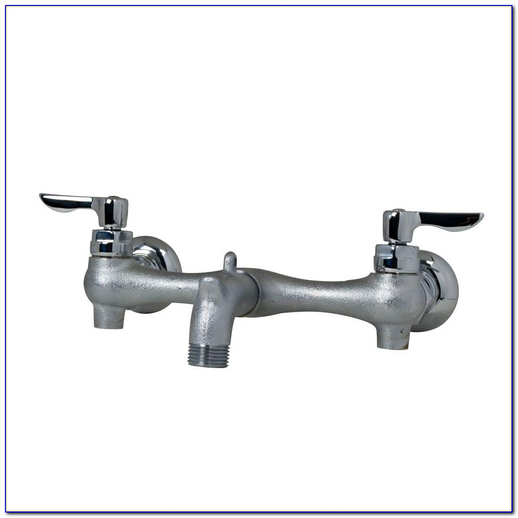 Wall Mount Utility Sink Faucet With Sprayer