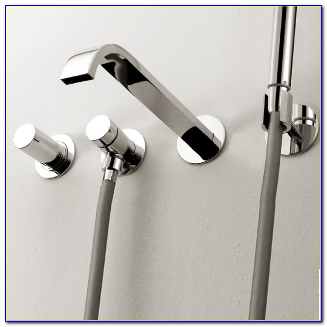 Wall Mounted Bathroom Faucets Chrome