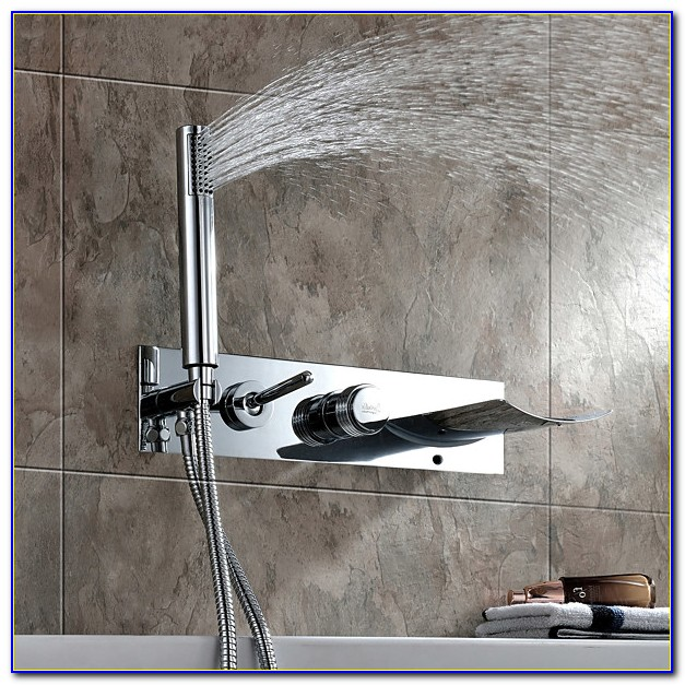Wall Mounted Tub Faucets Waterfall