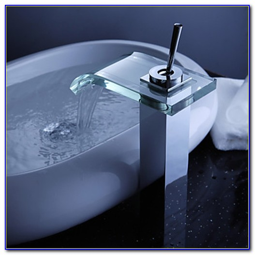 Waterfall Faucet Bathroom Vessel Sink