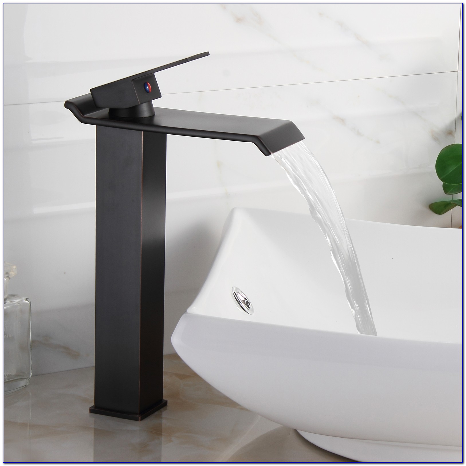 Waterfall Faucets For Vessel Sinks