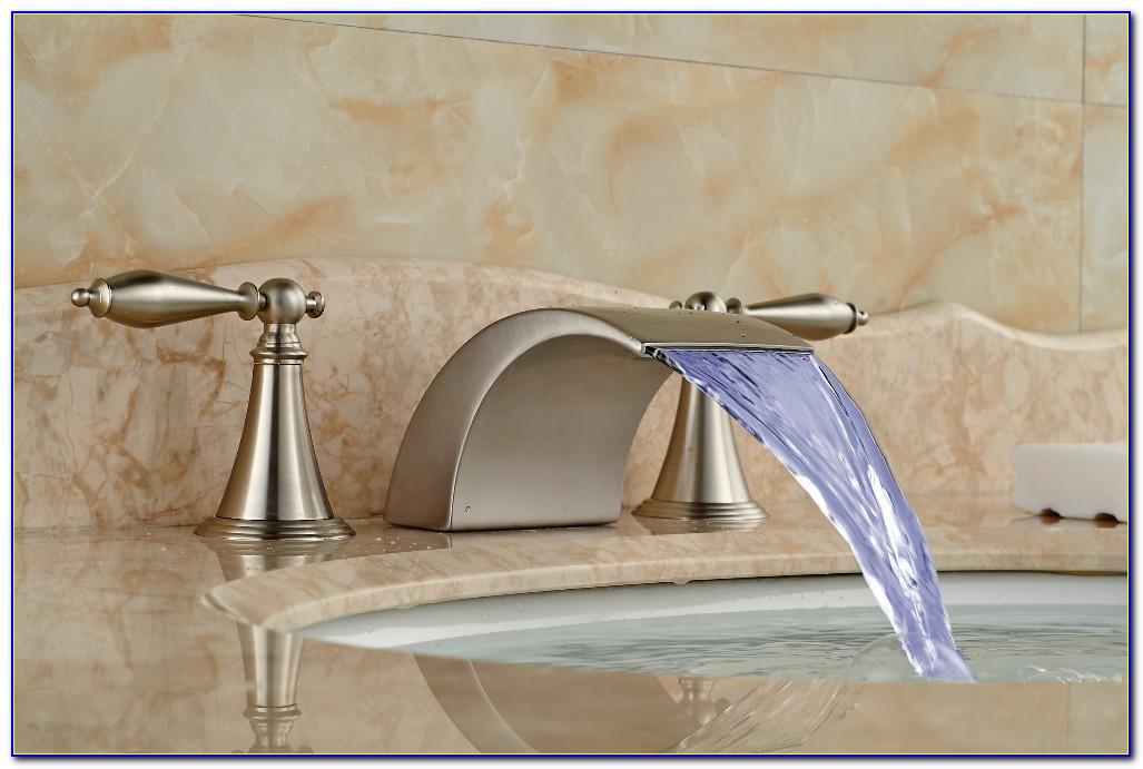 Waterfall Tub Faucet Brushed Nickel