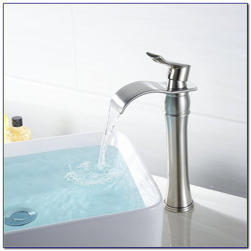 Waterfall Tub Filler Brushed Nickel
