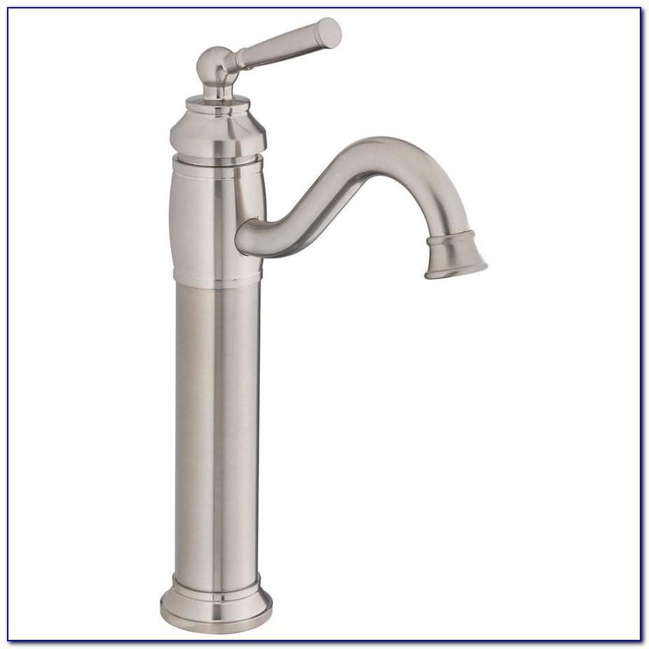 Waterfall Vessel Faucet Brushed Nickel