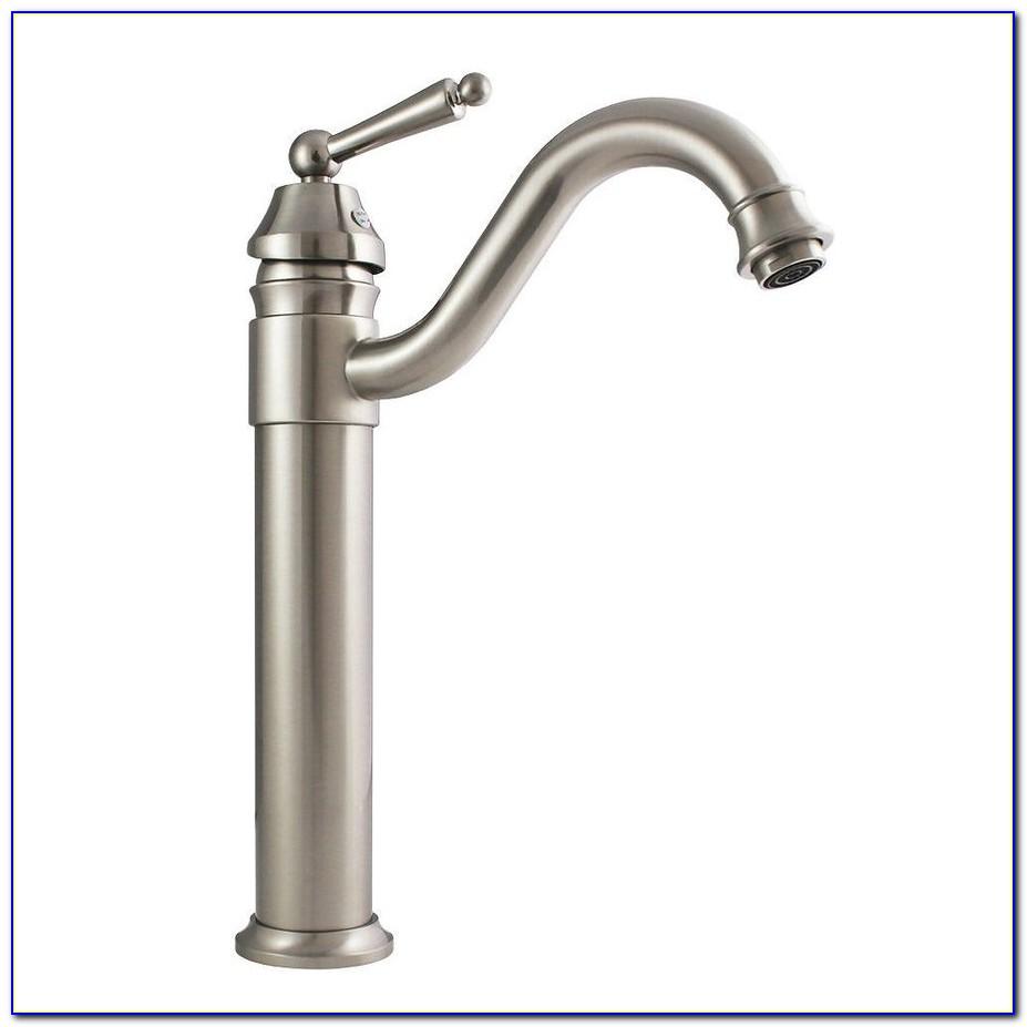 Waterfall Vessel Sink Faucet Brushed Nickel