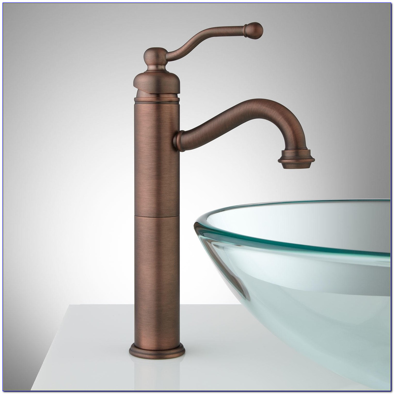 White Vessel Sink Faucet Combo