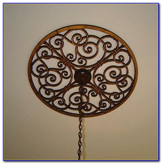 Wrought Iron Ceiling Medallions