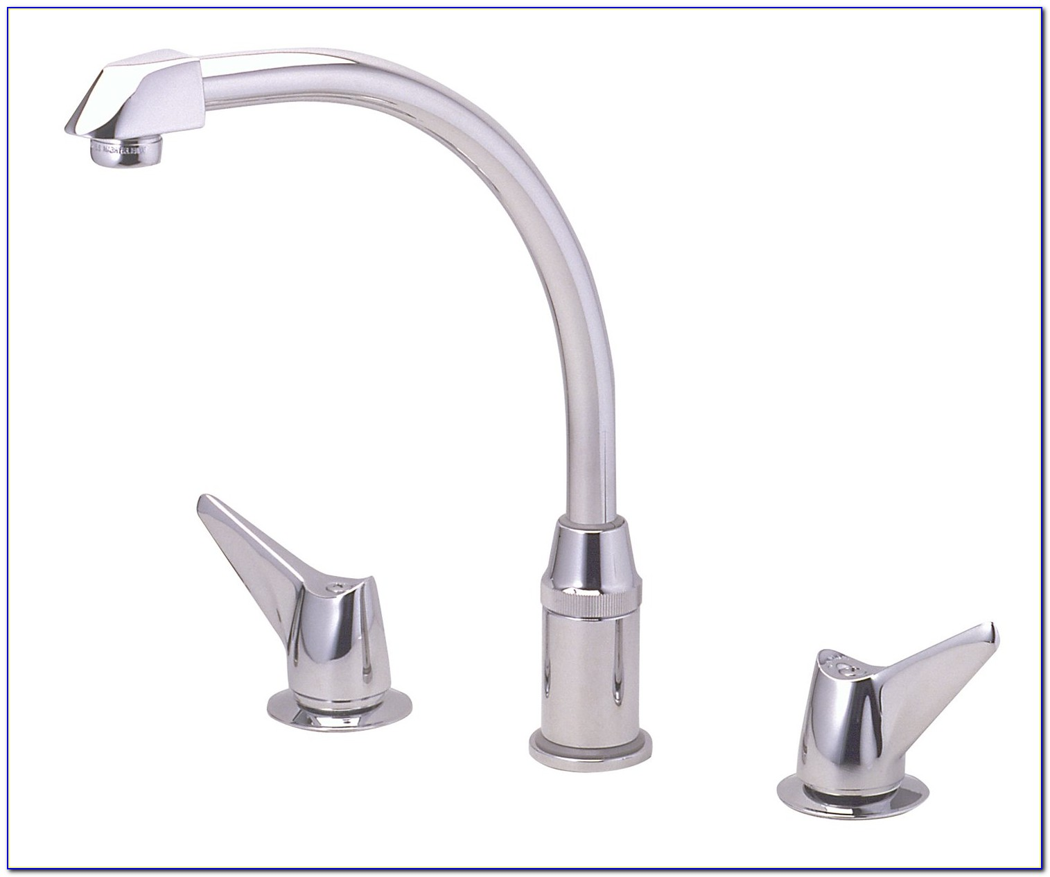 2 Handle Kitchen Faucet With Pull Down Sprayer