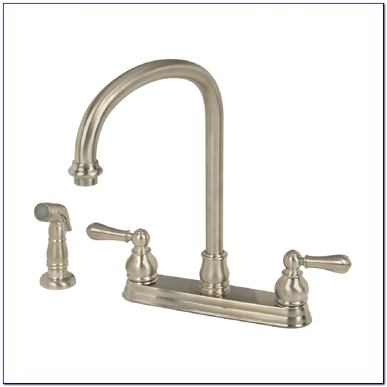 2 Handle Kitchen Faucet With Pull Out Sprayer