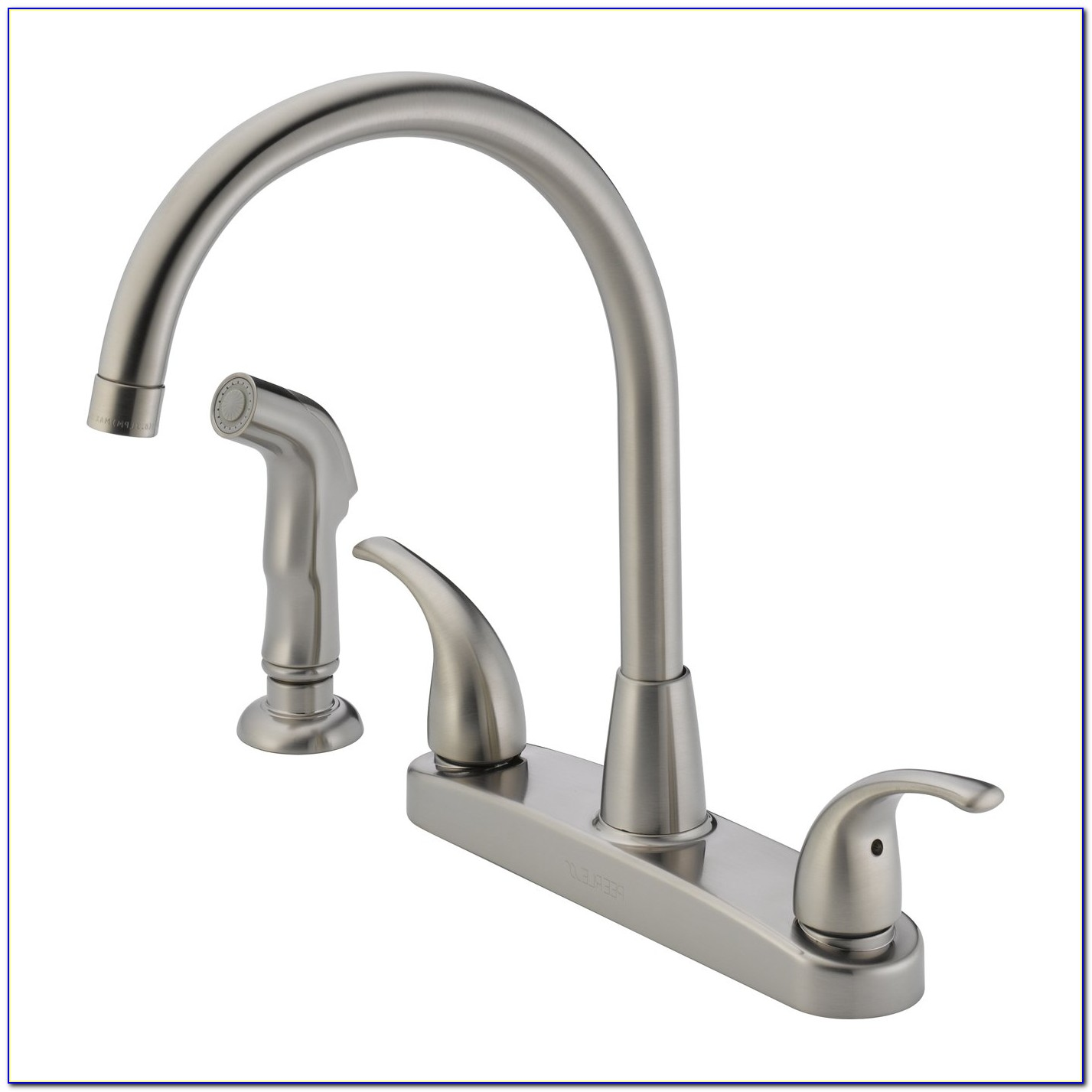 2 Handle Kitchen Faucet With Sprayer