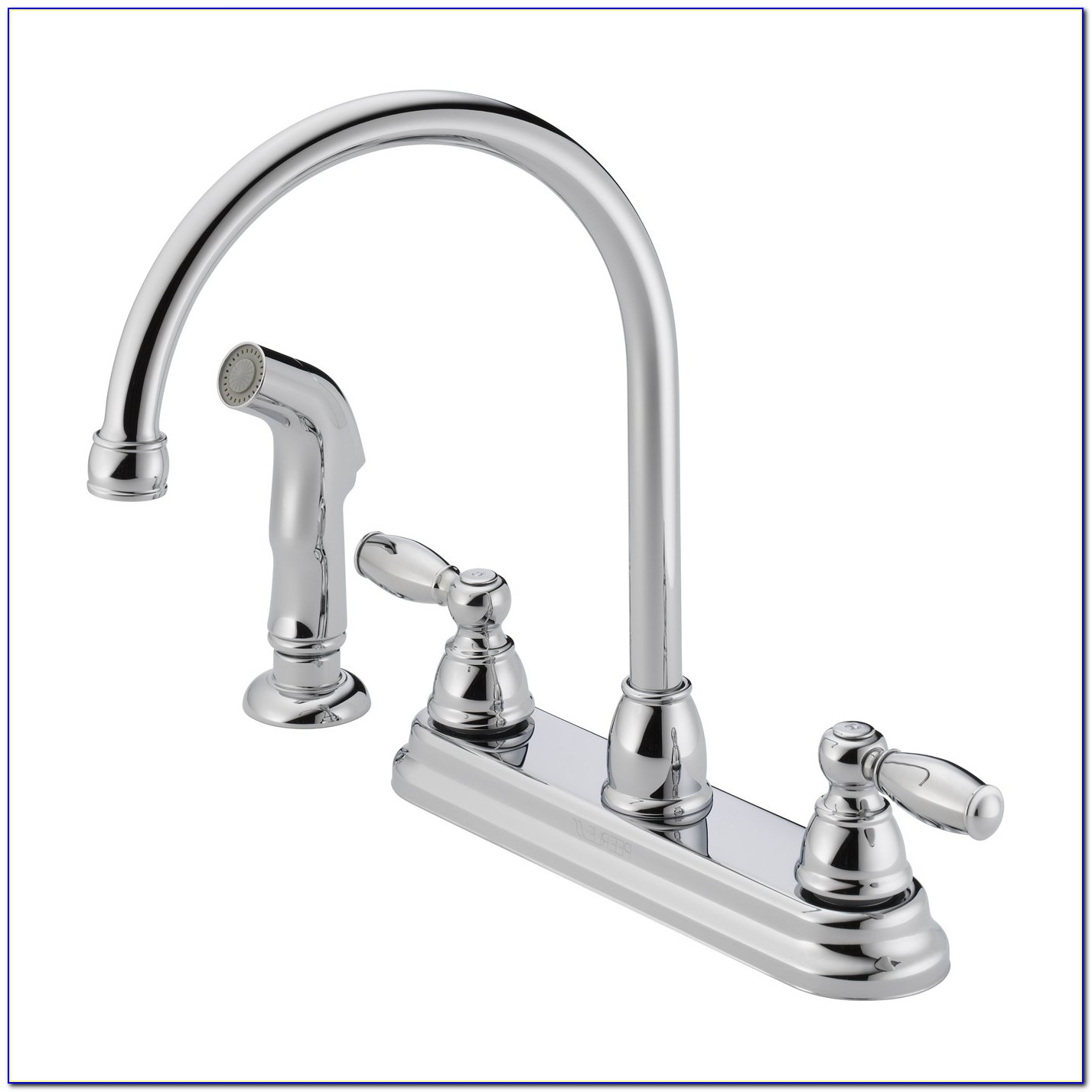 2 Handle Kitchen Faucets With Sprayer