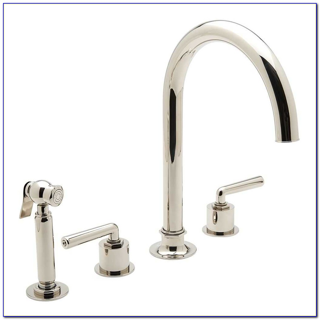 4 Hole Kitchen Faucet Pull Down Spray