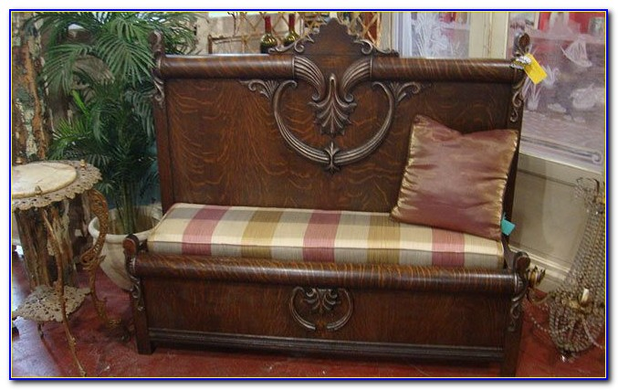 Antique Curved Headboard And Footboard