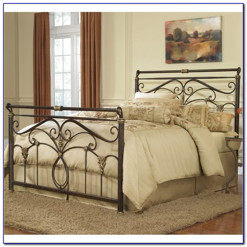 Antique Wrought Iron King Headboard