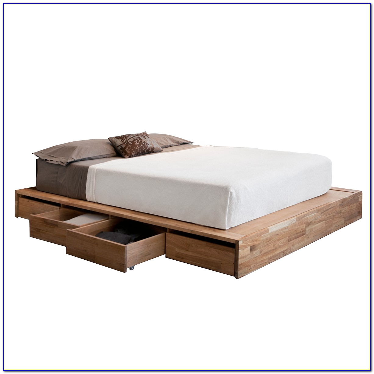 Bed Frame With Headboard Twin