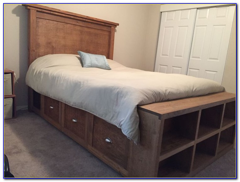 Bed Frame With Storage & Headboard White