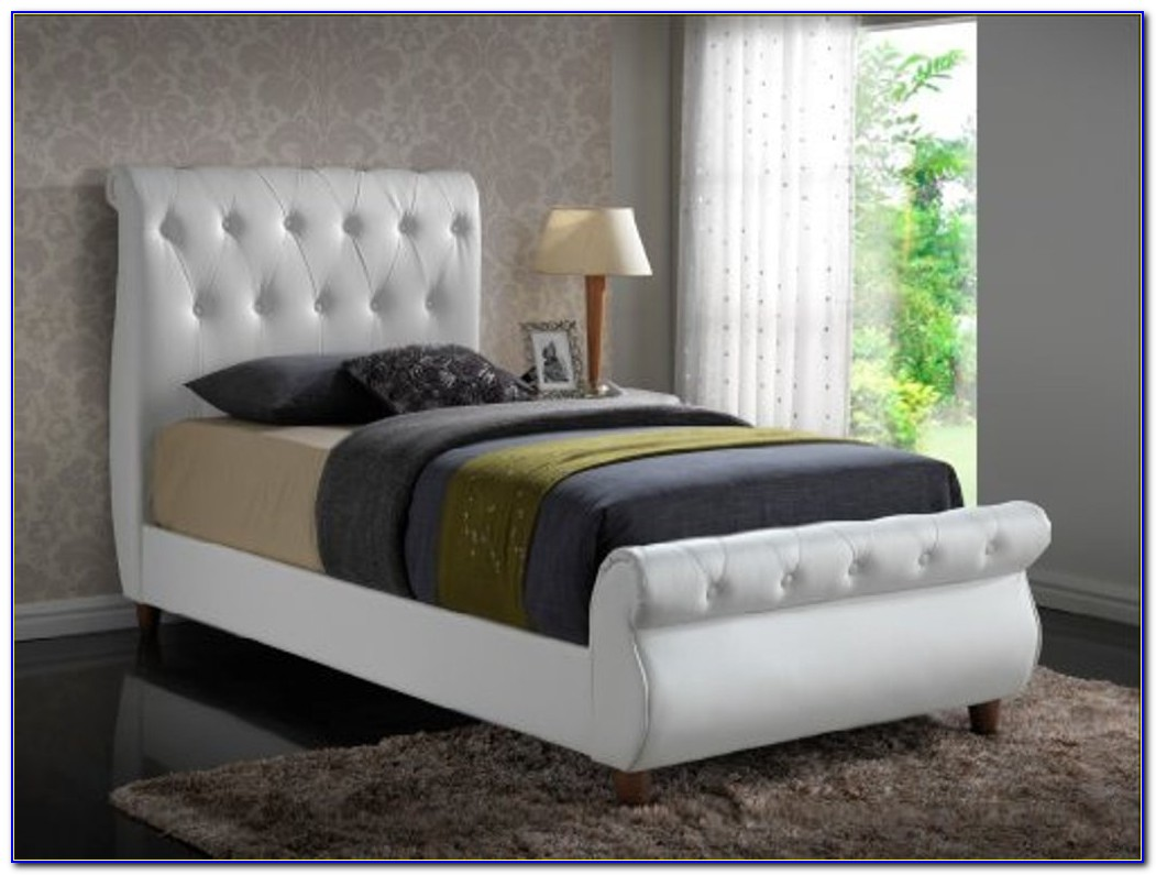 Bed With Cushioned Headboard