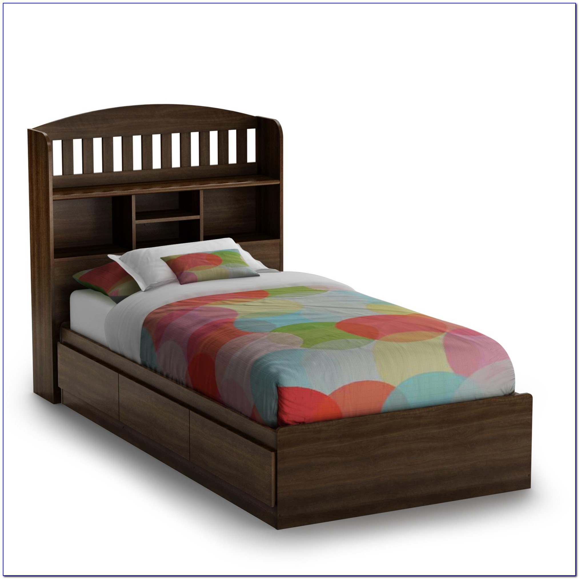 Bed With Shelves In Headboard