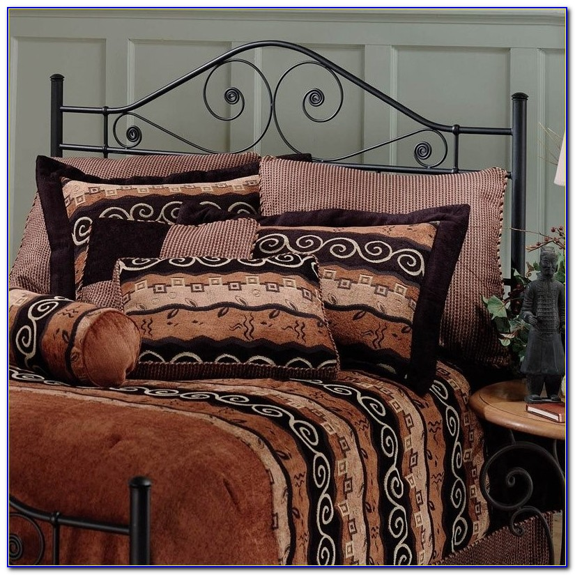 Black Metal Headboard King Size
