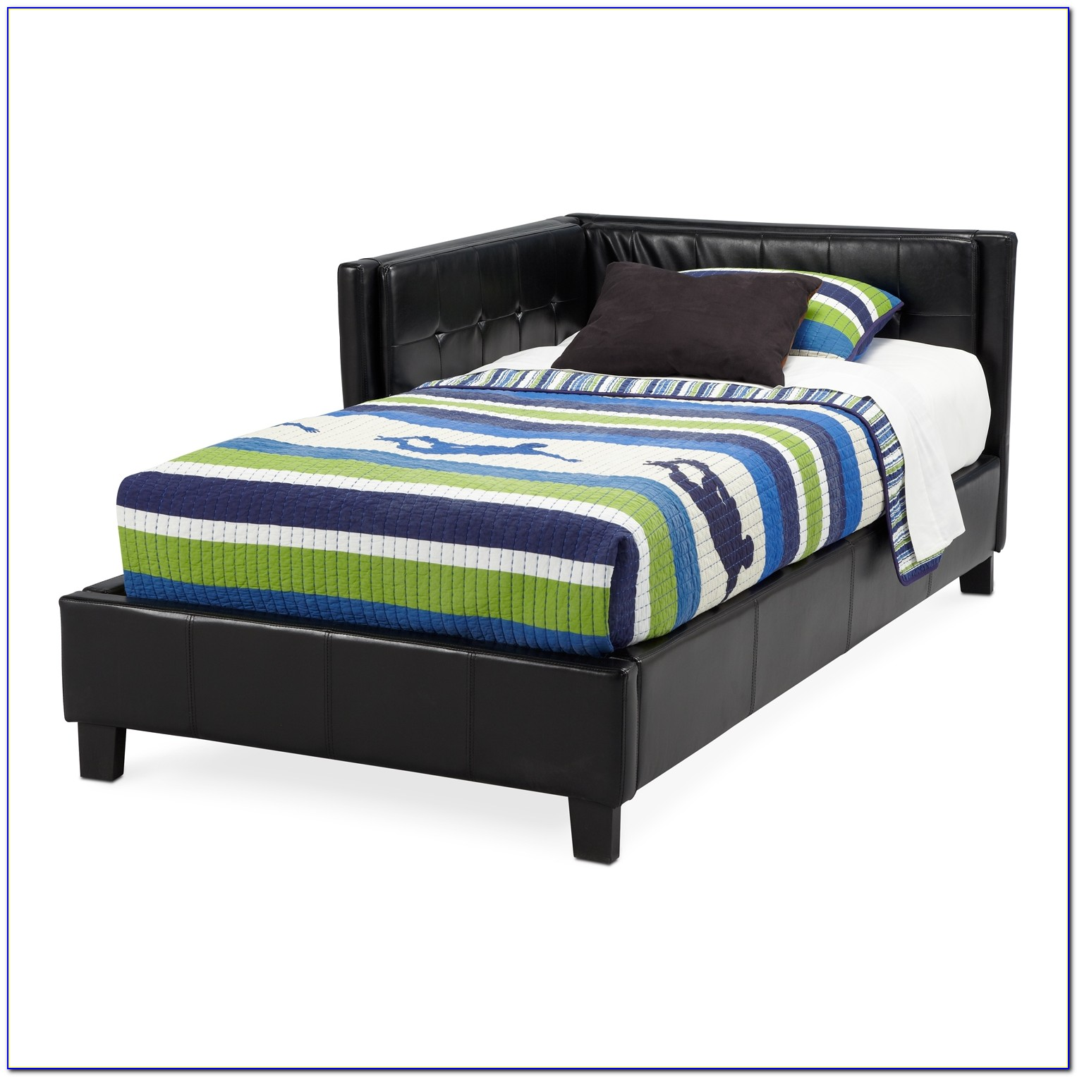 Black Upholstered Headboard Full