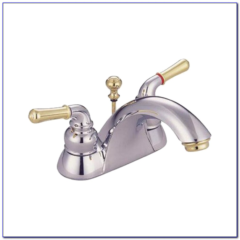 Brass And Chrome Bath Faucets