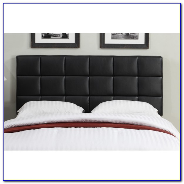 Brown Leather Tufted Headboard Queen