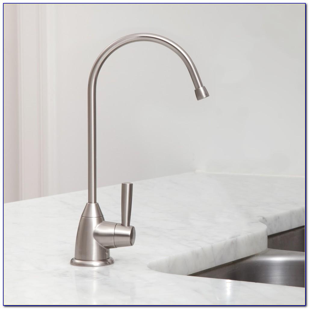 Brushed Nickel Water Filter Faucet