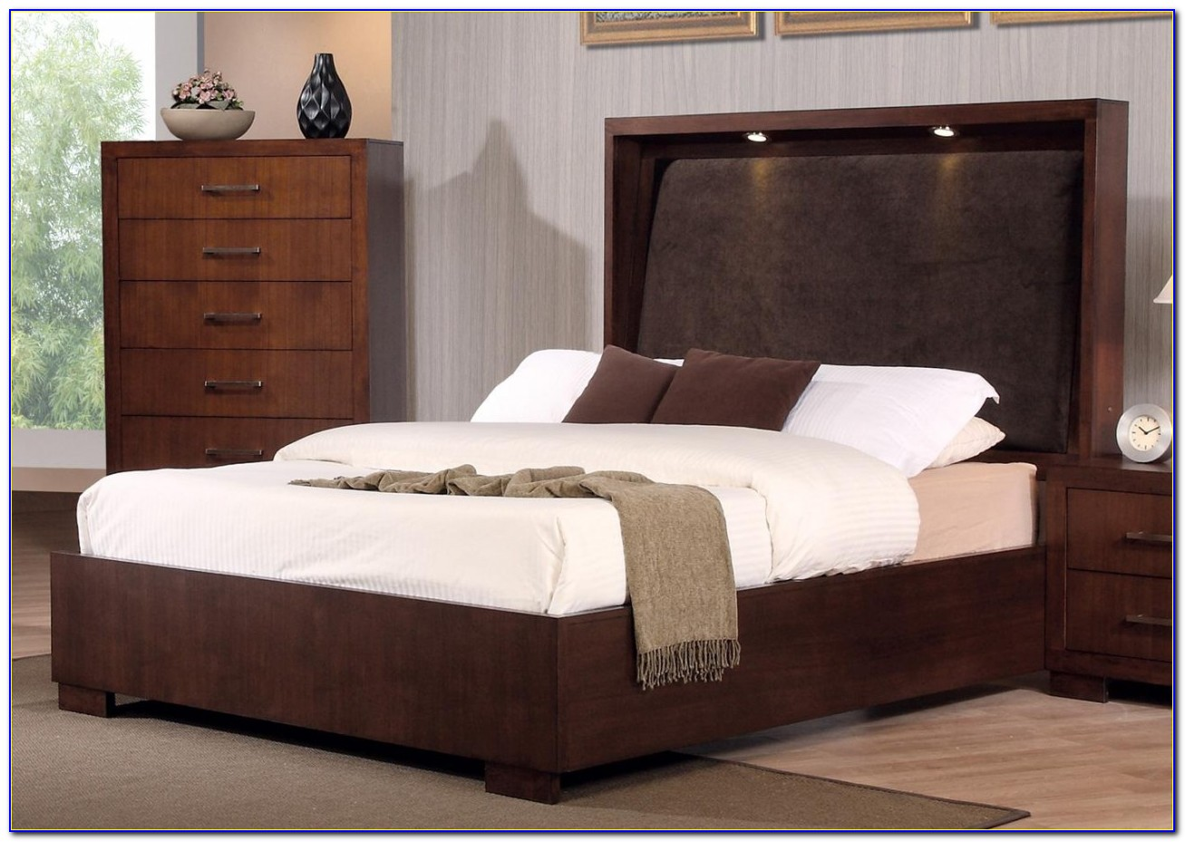 California King Bed Headboard Storage