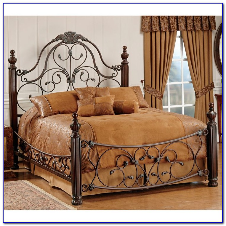Cherry Wood And Iron Headboards