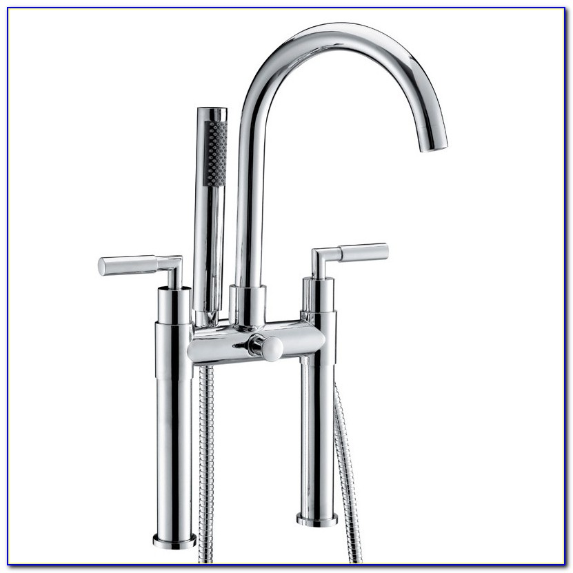 Deck Mount Clawfoot Tub Faucet With Shower
