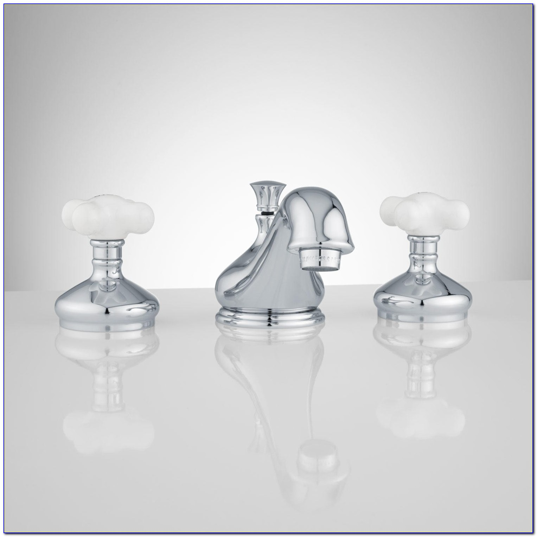 Delta Bathroom Faucet Porcelain Handles