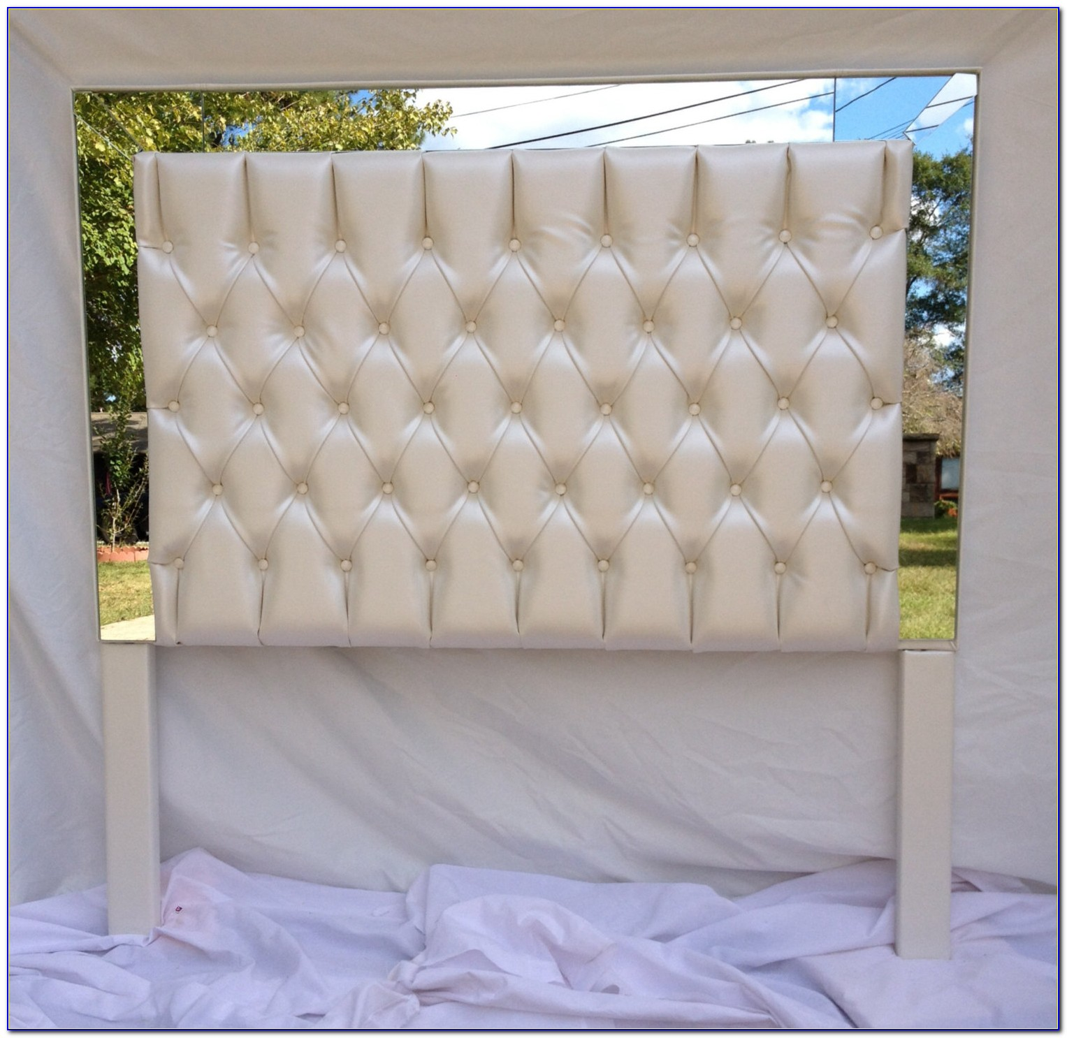 Diy Faux Leather Tufted Headboard