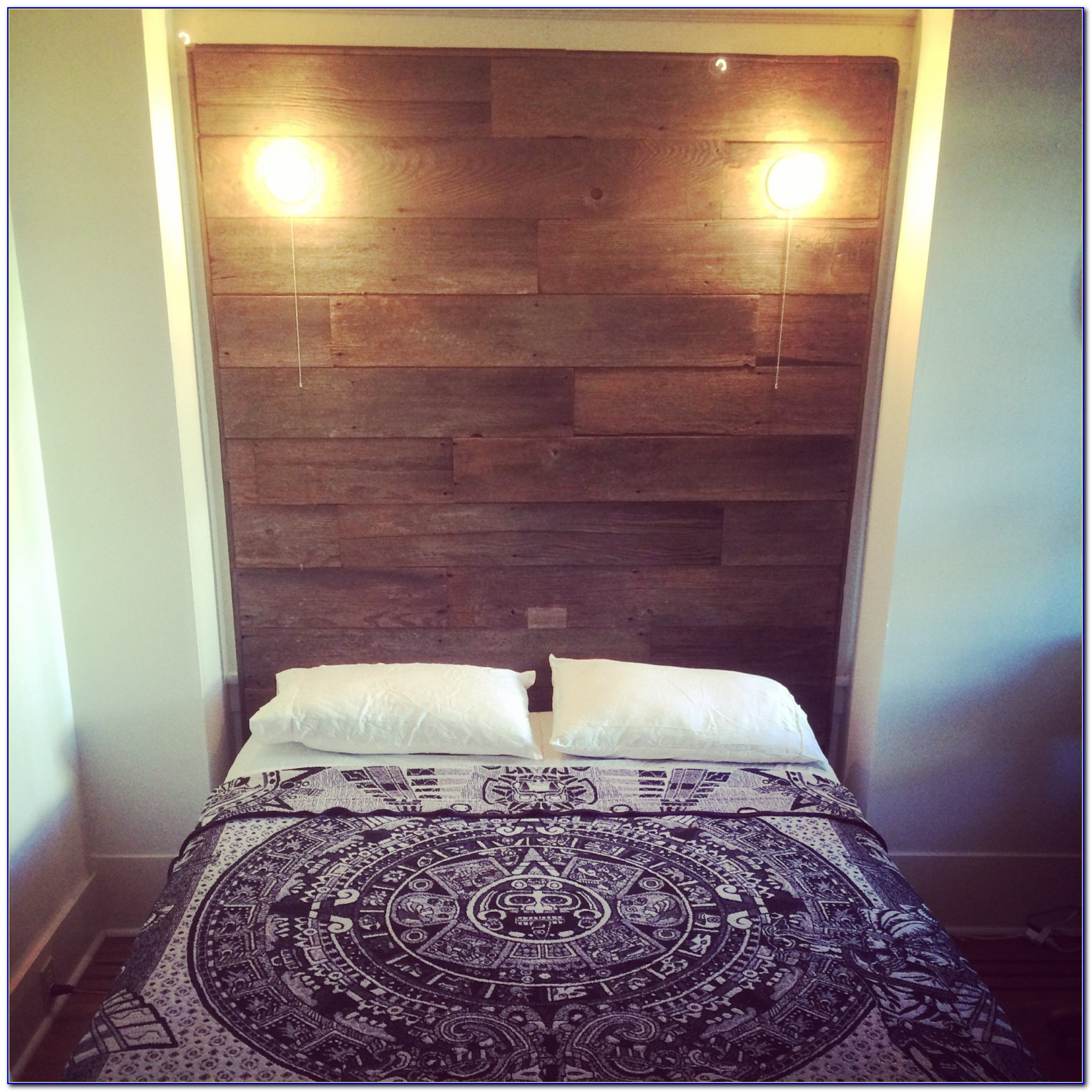 Diy Headboard With Reading Lights Built In