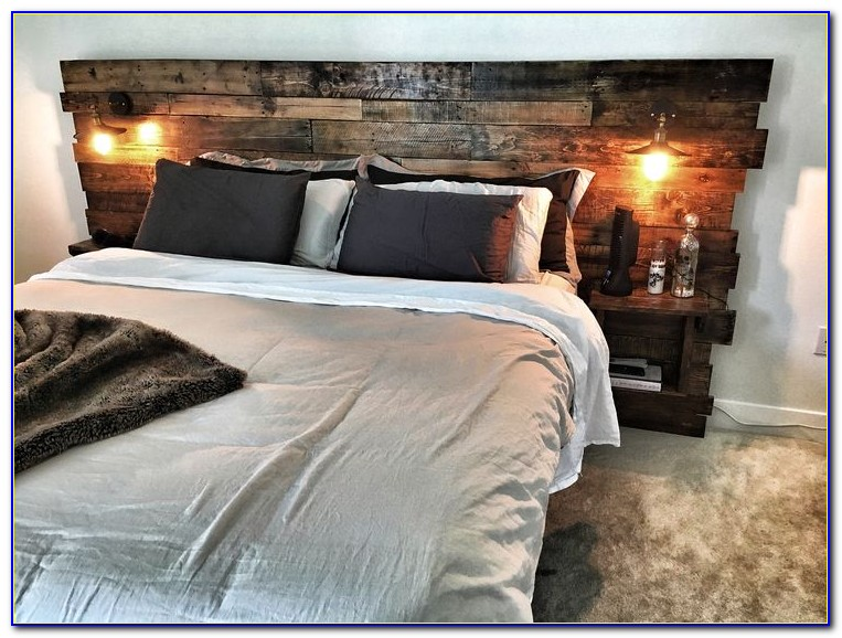 Diy King Size Headboard With Storage And Lights