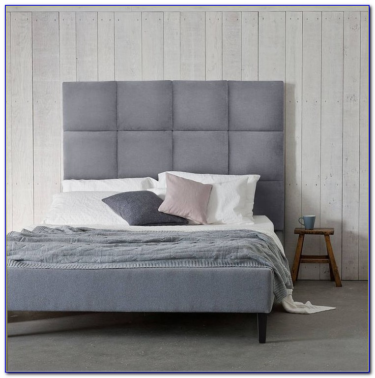 Fabric Headboard Wood Trim