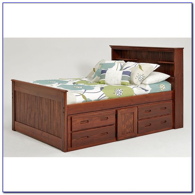 Full Bed Frame With Headboard Storage