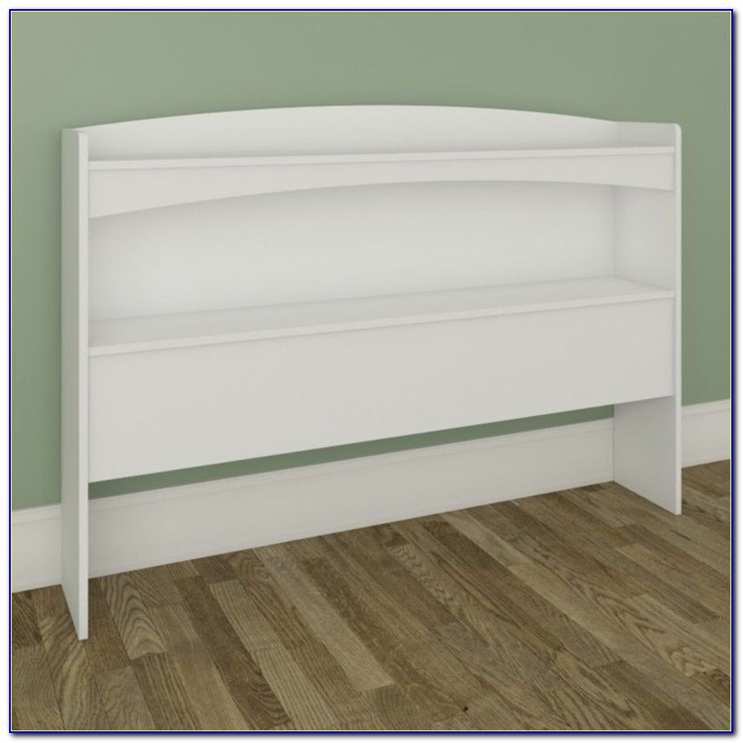 Full Size Headboard With Shelves