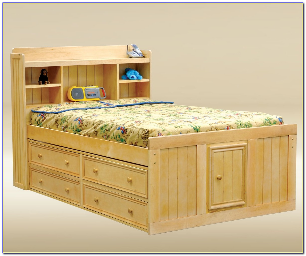 Full Size Storage Bed No Headboard