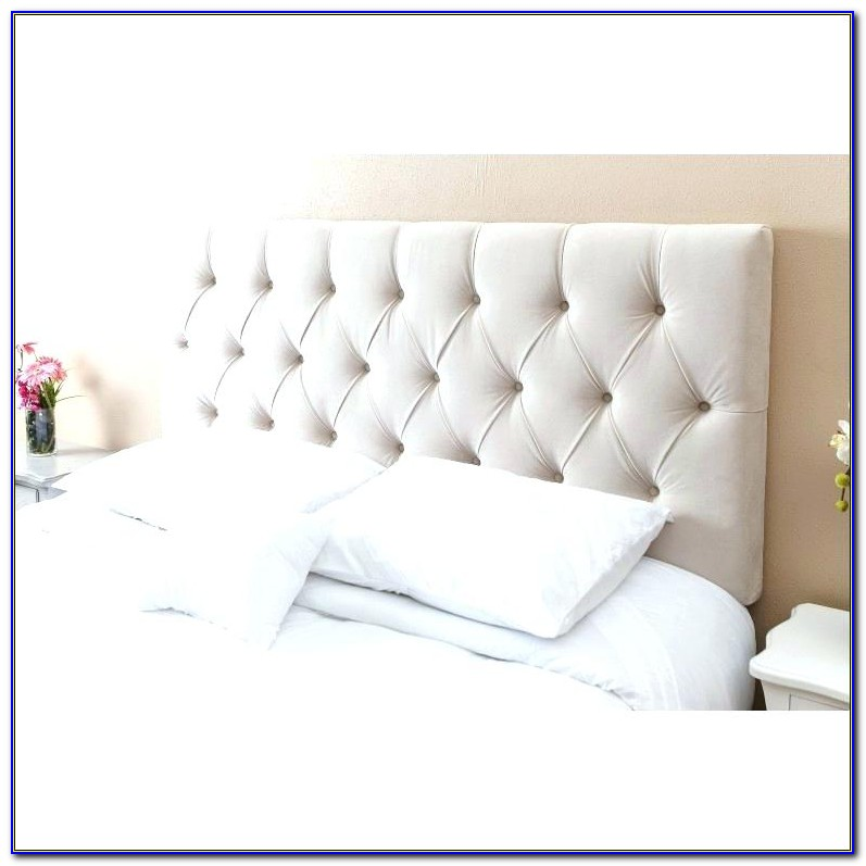 Full Size White Tufted Headboard
