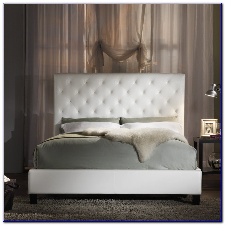 Full Size White Upholstered Headboard