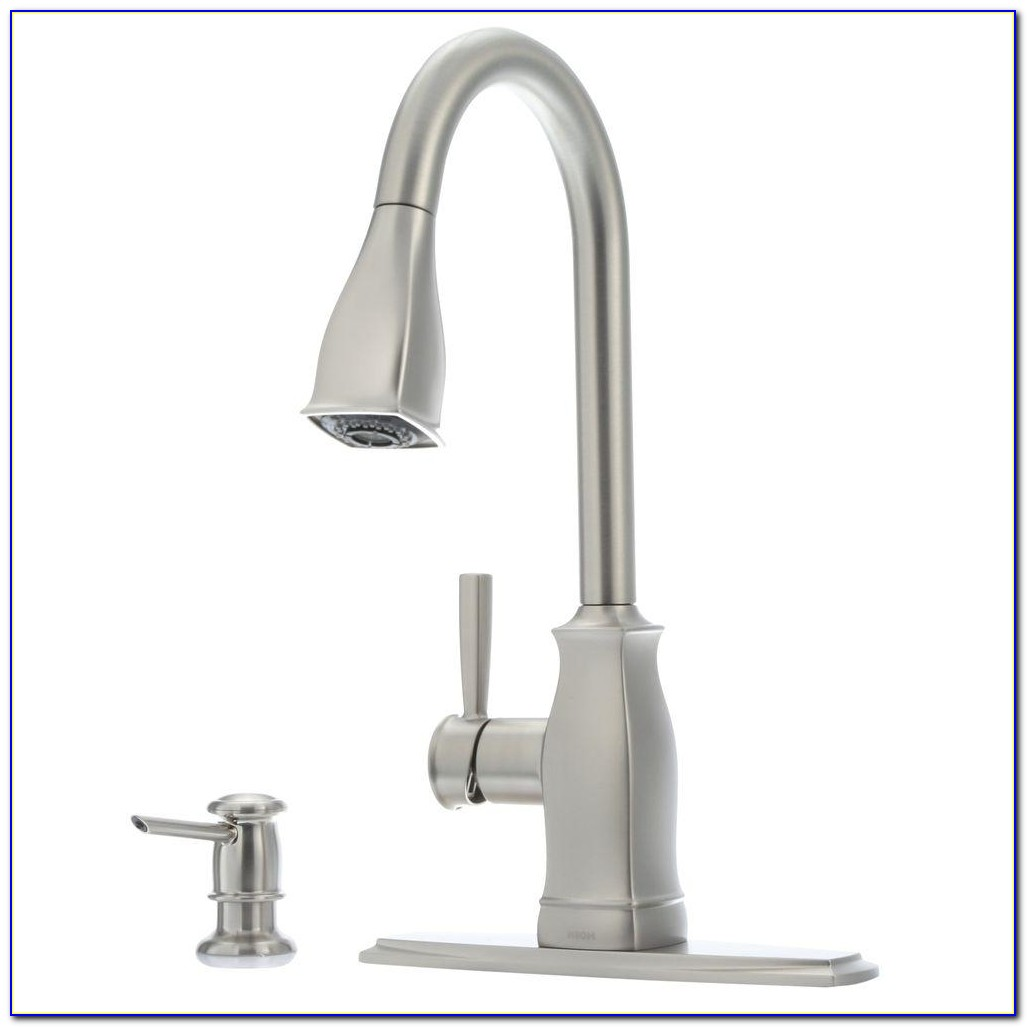 Moen Hensley Single Handle Pull Down Sprayer Kitchen Faucet With Inside Proportions 1000 X 1000
