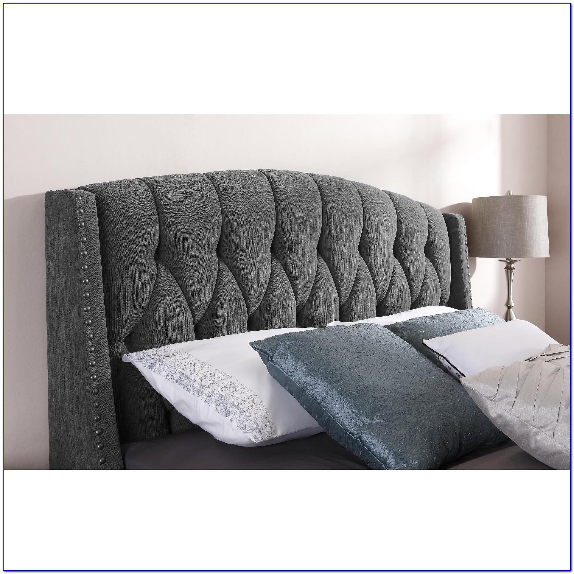 Grey Fabric King Size Headboard