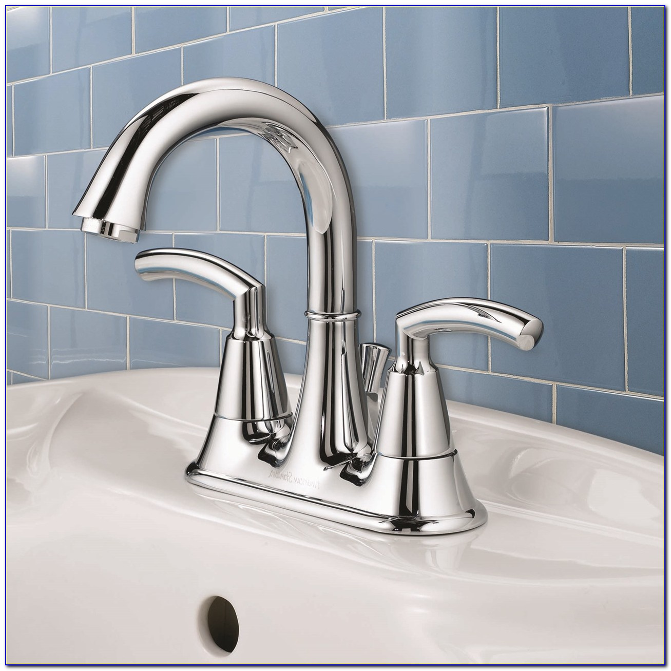 Hampton 2 Handle 4 Inch Centerset Bathroom Faucet