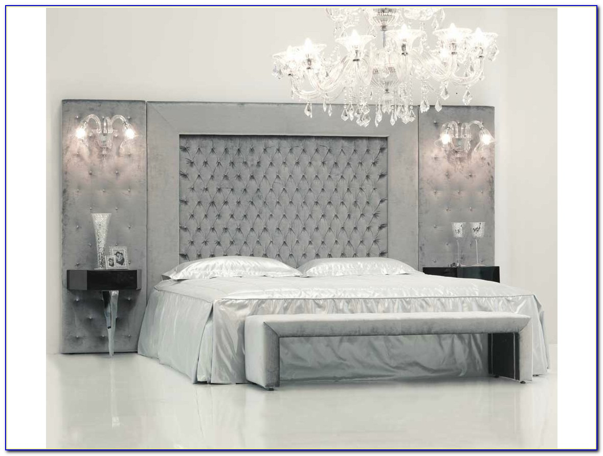 High Headboard Upholstered Bed