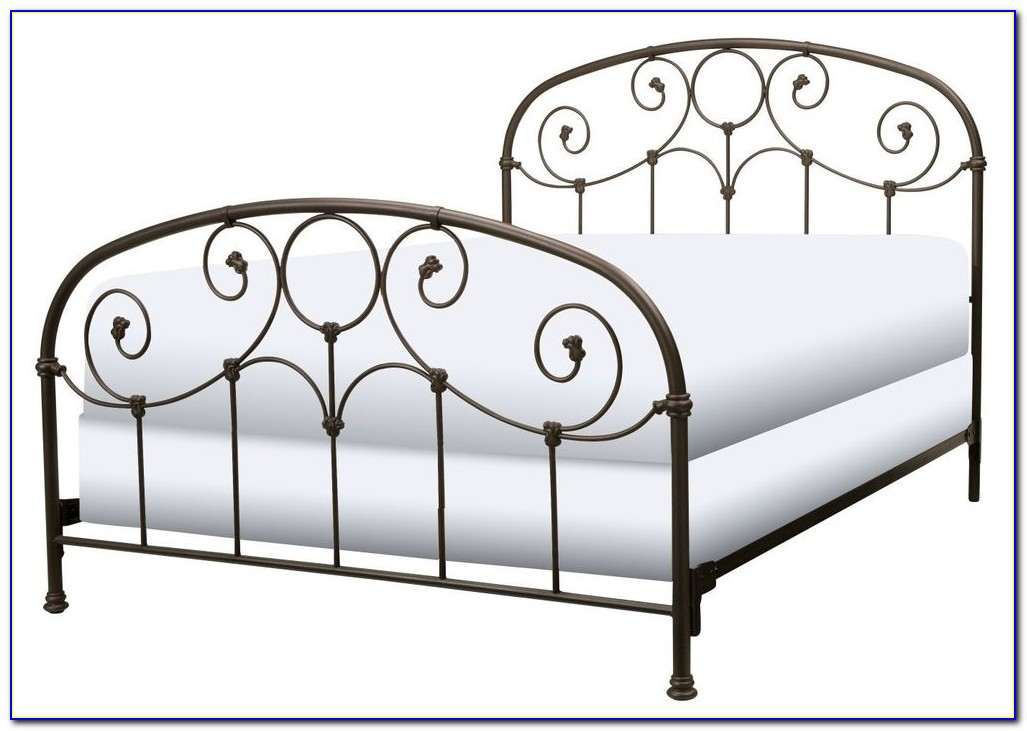 High Rise Metal Bed Frame With Headboard Brackets