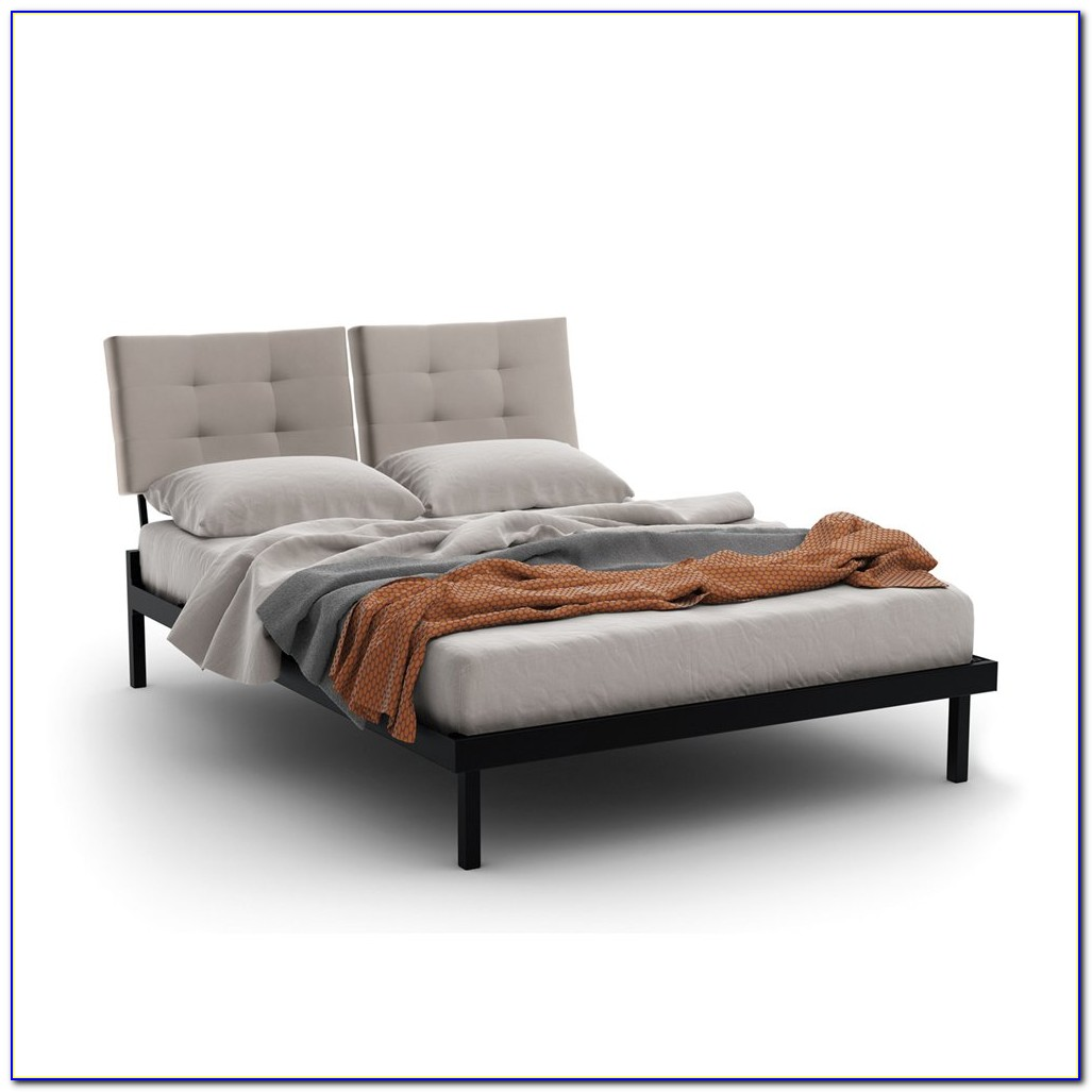 King Bed With Cushioned Headboard